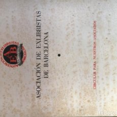 Arte: EXLIBRIS - REVISTA ASOCIACION DE EXLIBRISTAS DE BARCELONA (AEB). NUM. 18 - REVISTA DICIEMBRE 1959.. Lote 189474941