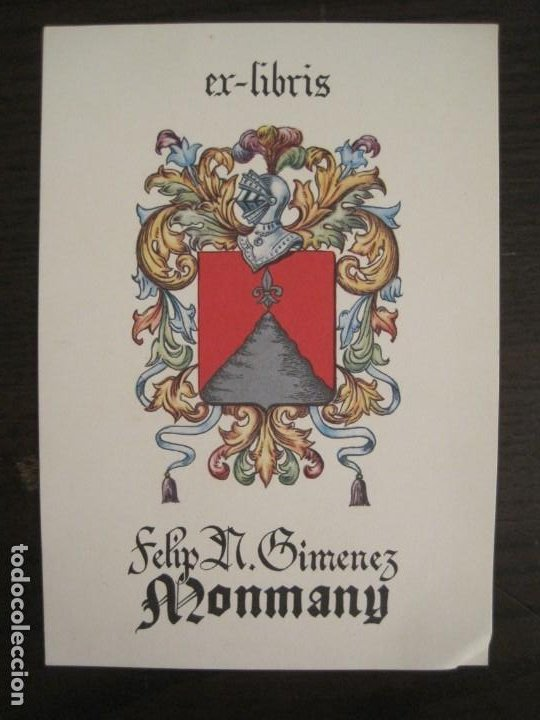 EX LIBRIS-FELIP GIMENEZ MONMANY-VER FOTOS-(X-2756) (Arte - Ex Libris)