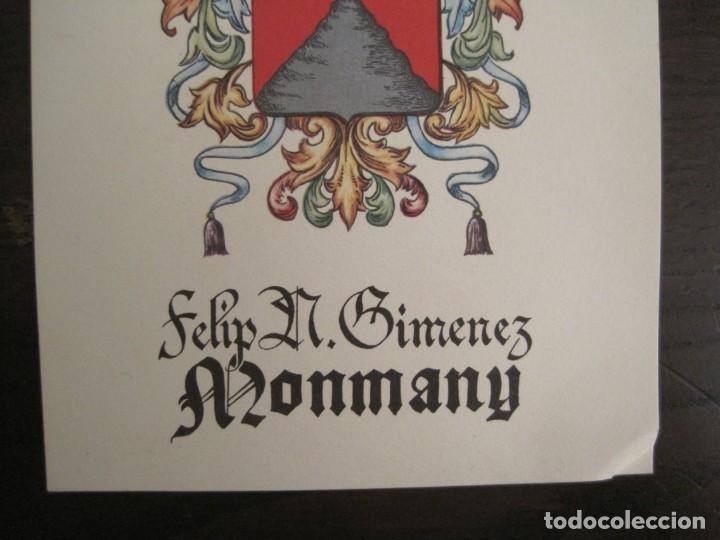 Arte: EX LIBRIS-FELIP GIMENEZ MONMANY-VER FOTOS-(X-2756) - Foto 3 - 191829268