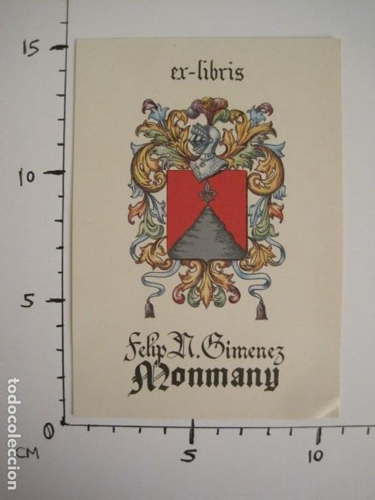 Arte: EX LIBRIS-FELIP GIMENEZ MONMANY-VER FOTOS-(X-2756) - Foto 5 - 191829268