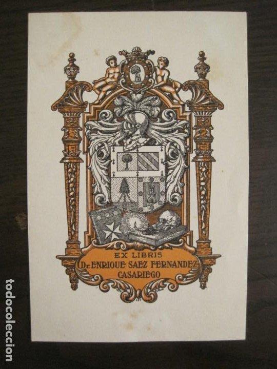 EX LIBRIS-DR ENRIQUE SAEZ FERNANDEZ CASARIEGO-VER FOTOS-(X-2757) (Arte - Ex Libris)