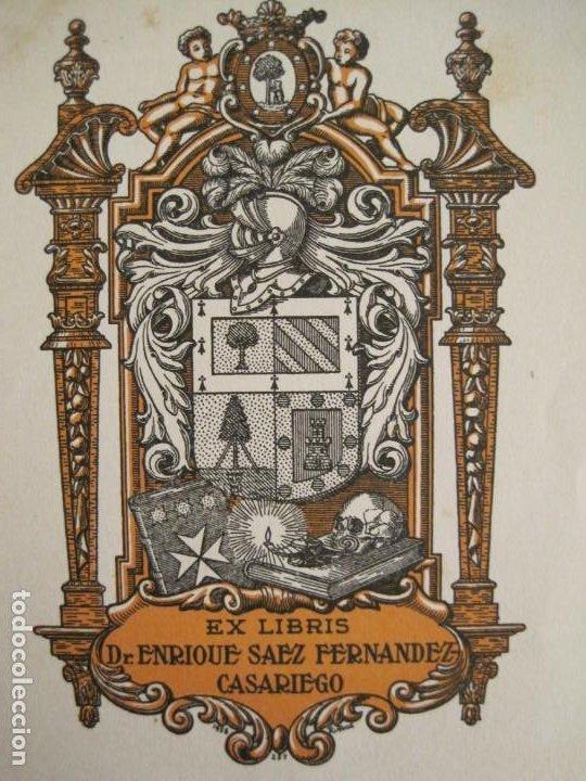 Arte: EX LIBRIS-DR ENRIQUE SAEZ FERNANDEZ CASARIEGO-VER FOTOS-(X-2757) - Foto 2 - 191829416