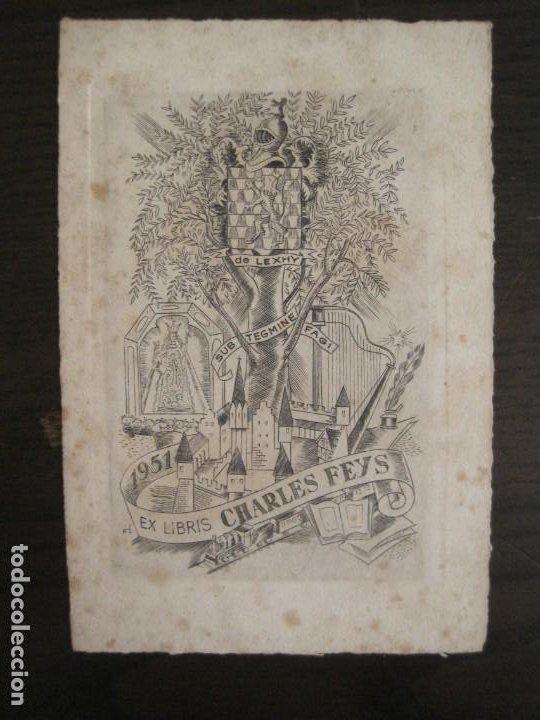 EX LIBRIS-CHARLES FEYS-VER FOTOS-(X-2758) (Arte - Ex Libris)