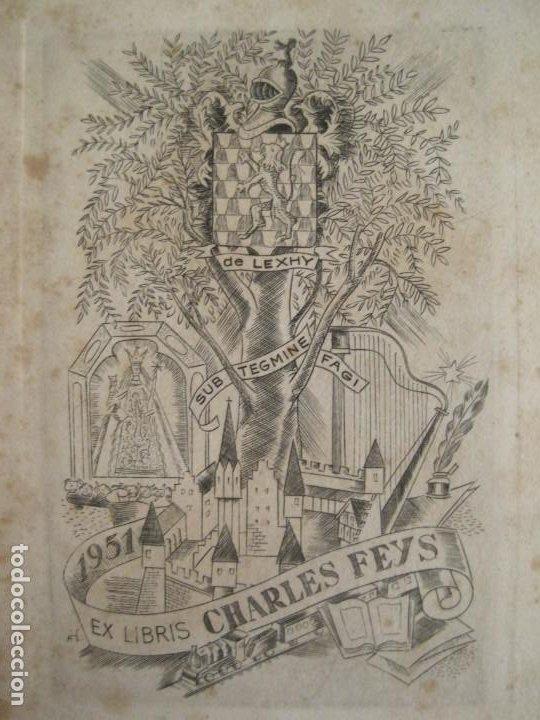 Arte: EX LIBRIS-CHARLES FEYS-VER FOTOS-(X-2758) - Foto 2 - 191829553
