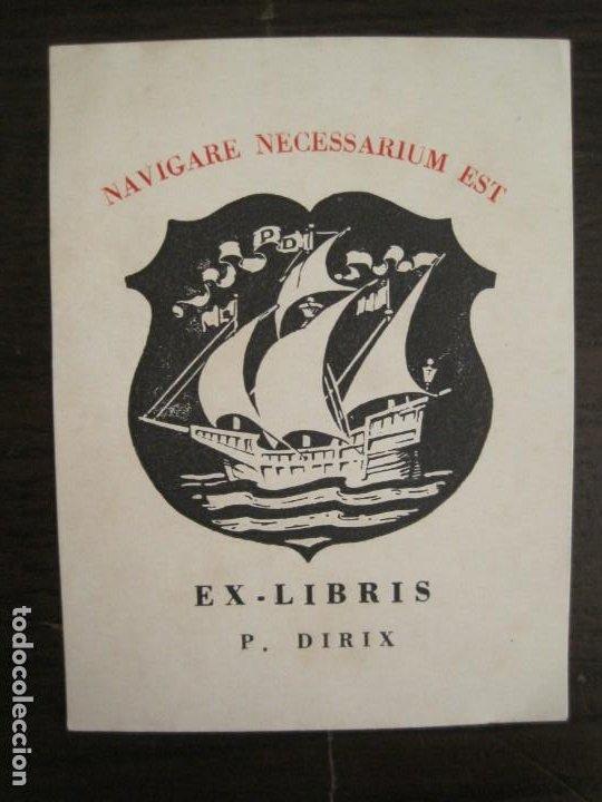 EX LIBRIS-P.DIRIX-BARCO-VER FOTOS-(X-2762) (Arte - Ex Libris)