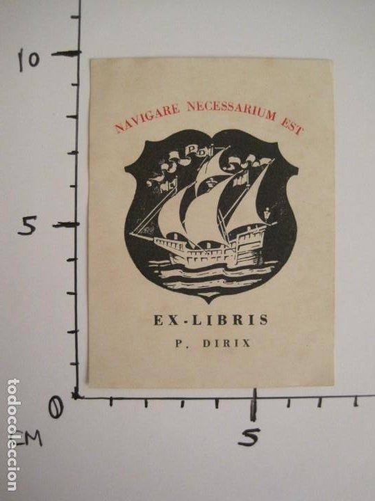 Arte: EX LIBRIS-P.DIRIX-BARCO-VER FOTOS-(X-2762) - Foto 4 - 191829863