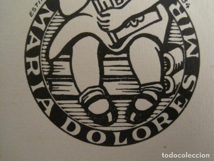 Arte: EX LIBRIS-MARIA DOLORES-ESTIARTE-VER FOTOS-(X-2806) - Foto 4 - 191833647
