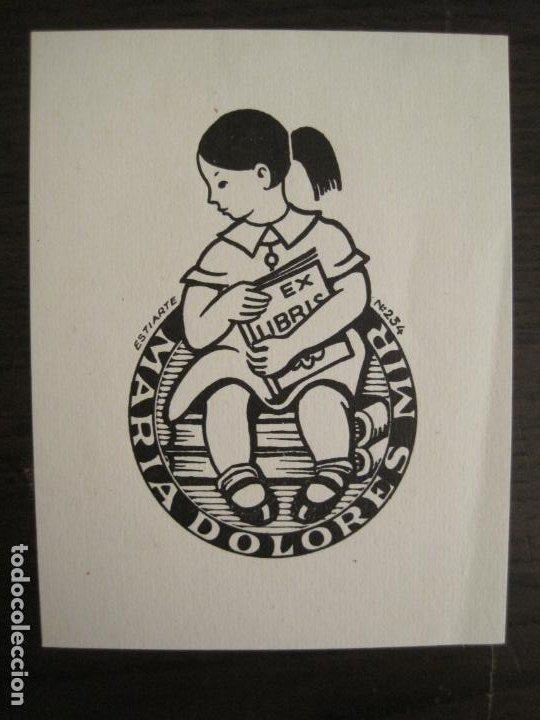 EX LIBRIS-MARIA DOLORES-ESTIARTE-VER FOTOS-(X-2806) (Arte - Ex Libris)