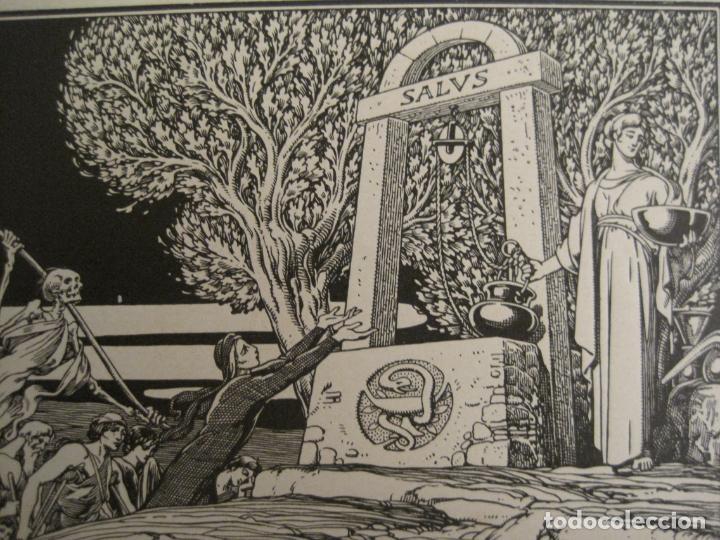 Arte: EX LIBRIS-DR JOSEP FABREGAT-TRIADO-LA MUERTE-VER FOTOS-(X-2812) - Foto 2 - 191834015