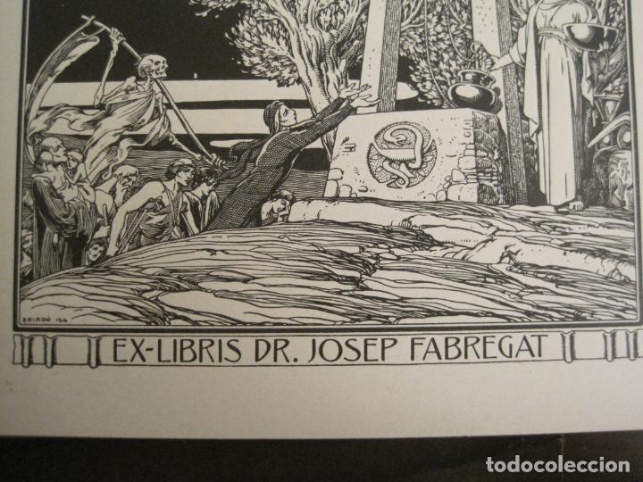 Arte: EX LIBRIS-DR JOSEP FABREGAT-TRIADO-LA MUERTE-VER FOTOS-(X-2812) - Foto 3 - 191834015