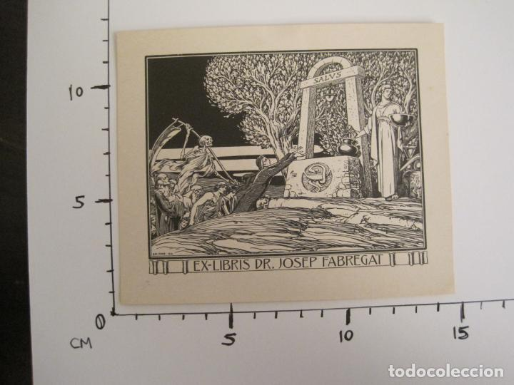 Arte: EX LIBRIS-DR JOSEP FABREGAT-TRIADO-LA MUERTE-VER FOTOS-(X-2812) - Foto 5 - 191834015