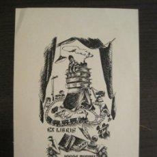 Arte: EX LIBRIS-JORGE MIQUEL SOLA-ALPRESA-VER FOTOS-(X-2925). Lote 192182247