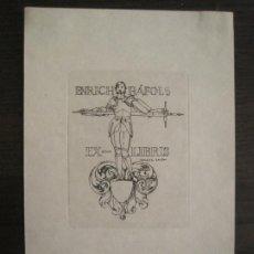 Arte: EX LIBRIS-ISMAEL SMITH-ENRICH RAFOLS-VER FOTOS-(X-2933). Lote 192184835