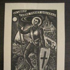 Arte: EX LIBRIS-SANT JORDI-VICENS TARRES GALCERAN-VER FOTOS-(X-2943). Lote 192186151