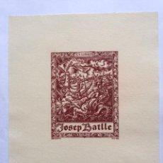 Art: EX-LIBRIS EXLIBRIS BOOKPLATE ESTIARTE, OPUS 133. DON QUIJOTE SANCHO PANZA MOLINO DE VIENTO. Lote 192895110