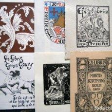 Art: LOTE 60 EX-LIBRIS ANTIGUOS VARIADOS. Lote 193066315