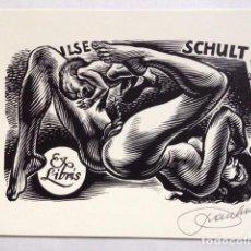 Art: EX-LIBRIS EXLIBRIS BOOKPLATE FRANK-IVO VAN DAMME, OPUS 254. DESNUDO PARTO. Lote 193089957