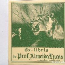 Art: EX-LIBRIS EXLIBRIS BOOKPLATE J. CARDEÑOSA, 1953. MANO PUÑAL LEONA. Lote 193090387