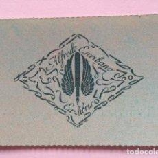 Art: EX-LIBRIS EXLIBRIS BOOKPLATE FELICIANO PÉREZ, 1947. PLUMA ALADA. Lote 193091296