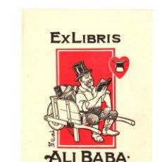 Art: EXLIBRIS ALI BABA. FELIX SHAY. SEGUN ILUSTRACIONES DE WILLIAM DENSLOW, ILUSTRADOR MAGO DE OZ. 1926. Lote 193234053