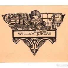 Art: EXLIBRIS WILLIAM JORDAN, EDITOR AMERICANO. C. 1910. Lote 193240777
