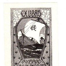 Arte: EXLIBRIS ESCRITOR ALEMAN RICHARD BRAUNGART. HAUSTEIN. C. 1910. Lote 193806651