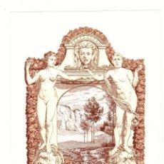 Arte: EXLIBRIS C. ROSCHET. BASEL, BASILEA, SUIZA. C. 1910. Lote 193807745