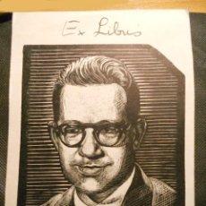 Arte: EX-LIBRIS OCTAVIO DE LA SUAREE - CUBA 1952. Lote 193918268