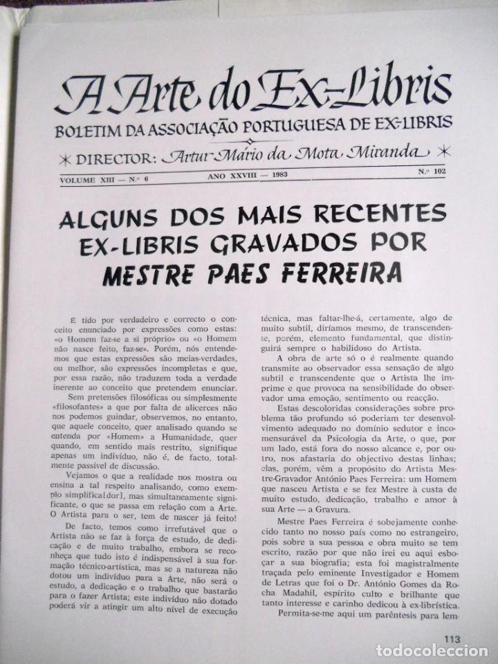 Arte: A ARTE DO EX-LIBRIS - Nº 102 - BOLETIM TRIMESTRAL 1983 - Foto 2 - 194076243
