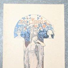 Arte: EXLIBRIS DE ALEXANDRE DE RIQUER PARA EL DR. RUDOLF NEUMANN 1903. Lote 194601075
