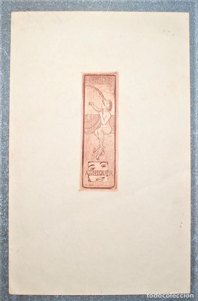 EXLIBRIS DE ALEXANDRE DE RIQUER 1903 (Arte - Ex Libris)