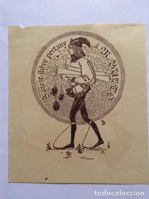 . 102 X 90 MM. GASTOS MANIPULACIÓN (Arte - Ex Libris)