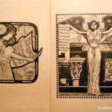 Arte: 2 EX-LIBRIS DE LLORENÇ BRUNET - 1904 Y 1916. Lote 195412836