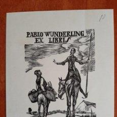Arte: EX LIBRIS CERVANTINO DE PABLO WUNDERLING. Lote 195427763