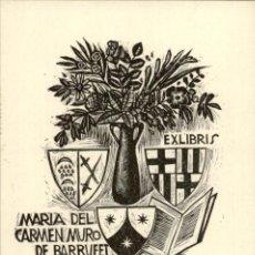 Art: EXLIBRIS - EX LIBRIS - PERE ORIOL DIVI Y COLL - APROX. 1950 - 120 X 90 MM - BOOKPLAT - FIRMADO. Lote 195990847