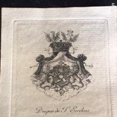 Arte: EXLIBRIS DEL DUQUE DE F. SERDAES DE TILLY. Lote 196611271