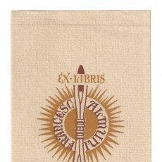 Arte: EX- LIBRIS Nº 16.- ILUSTRADO POR ESTIARTE PARA FRANCESC ALMUNI. Lote 198043821