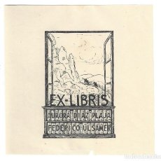 Art: EX- LIBRIS CERVANTINO. REPRODUCCIÓN CONMEMORATIVA.- AURORA DIAZ PLAJA. FEDERICO ULSAMER. Lote 198329930