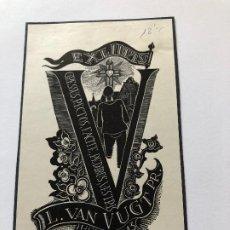 Arte: EXLIBRIS L VAN VUGHT PR. Lote 198333447