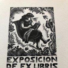 Arte: EXLIBRIS EXPOSICION EX LIBRIS BARCELONA 1950. Lote 198333671