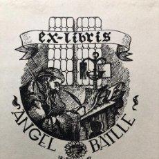 Arte: EX LIBRIS ANGEL BATLLE. Lote 198335702