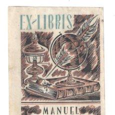 Arte: EX- LIBRIS.- ILUSTRADO POR ALPRESA PARA MANUEL COROMINAS VILA. Lote 198812897