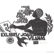 Arte: EX- LIBRIS.- JOAN VILANOVA. Lote 198814015
