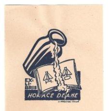 Arte: EX- LIBRIS.- ILUSTRADO POR J. ANGLADA VILLA PARA HORACE DEANE. Lote 198814720