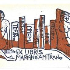 Arte: EX- LIBRIS.- MARIANO AMITRANO. DESNUDO. Lote 198818428