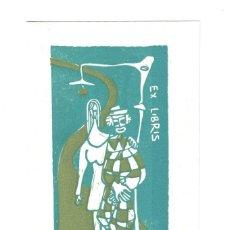 Arte: EX- LIBRIS.- ILUSTRADO POR LEBORONI PARA FRANCESCO CARBONARA. Lote 198818872