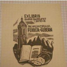 Arte: EX.LIBRIS ENRIC BARRUFET ESTEVE. Lote 199355495