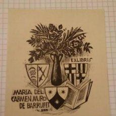 Arte: EX LIBRIS MARIA DEL CARMEN MURO BARRUFET. Lote 199359595