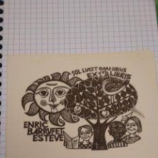 Arte: EX LIBRIS ENRIC BARRUFET ESTEVE. Lote 199396937