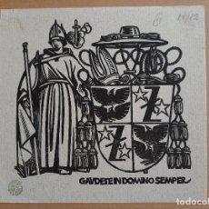 Arte: EX LIBRIS GAVDETEIN DOMINO SEMPER. Lote 200355598